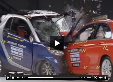 See The Iihs Video Demonstrating How Poorly Small Vehicles With Excellent Crash Test Ratings Perform When Impacting Large